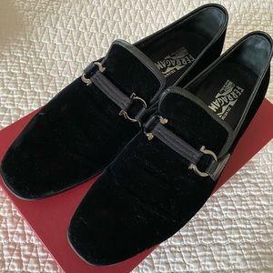 Ferragamo velvet men loafers